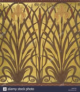 Papier Peint Art Nouveau : iris wallpaper by walter crane great britain late 19th ~ Dailycaller-alerts.com Idées de Décoration
