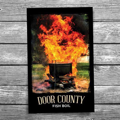 door county fish boil postcard christopher arndt