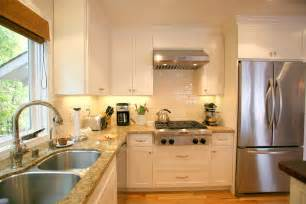 charming white themes kitchen with white subway ceramic wall backsplash as well as white