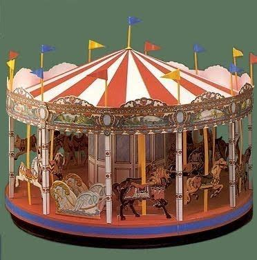 carousel book template make your own charming paper carosel downloadable
