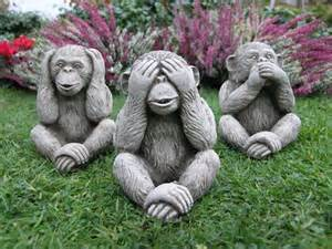 three monkeys garden statue 29 99 garden4less uk shop