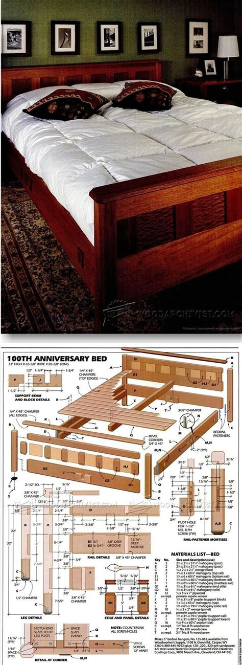 bedroom furniture plans furniture plans  projects