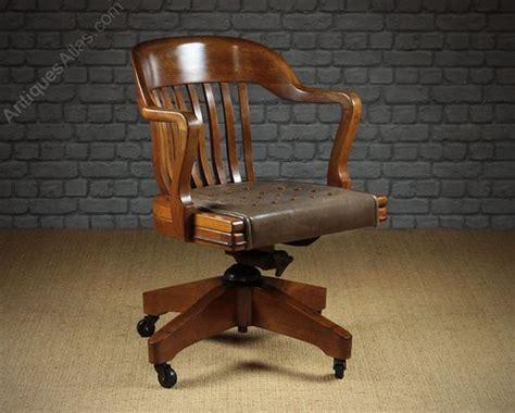 antiques atlas large walnut desk chair by w h gunlocke