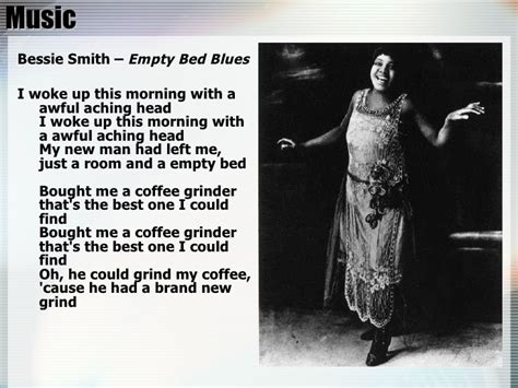 Bessie Smith Empty Bed Blues by 1920s New