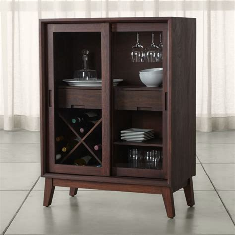 Steppe Wine Bar Cabinet   Crate and Barrel