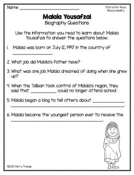 character education responsibility worksheets and