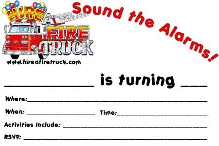 nice fire truck birthday invitations ideas  birthday