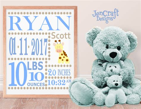 Add your photos, colors, and personalized text for the perfect card to announce your bundle of joy. Boy Baby Birth Announcement SVG EPS DXf cut file set with ...