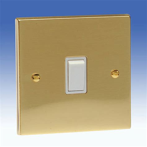 Gang Way Light Switch Edwardian Brass