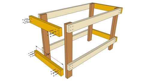 workbench plans easy  woodworking