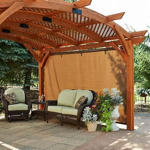 Quiet, Corner, Outdoor, Pergolas, Home, Design, Ideas