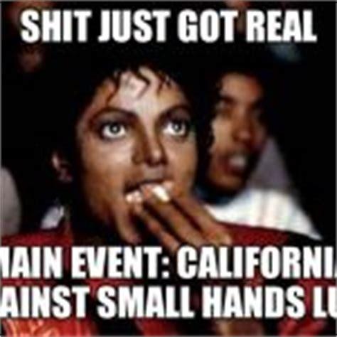 Shit Just Got Real Meme - michael jackson popcorn meme generator imgflip