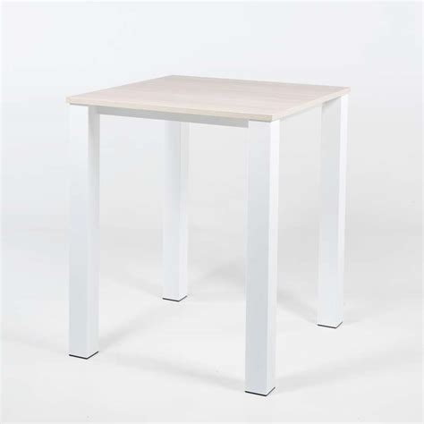 table haute de cuisine carr 233 e en m 233 tal et stratifi 233 quinta 4 pieds tables chaises et