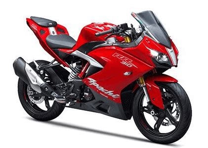 tvs apache rr  standard price  india specifications