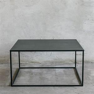 Couchtisch Holz Schwarz : simplex ii couchtisch aus metall 90x90 cm minimalistisch ~ Markanthonyermac.com Haus und Dekorationen