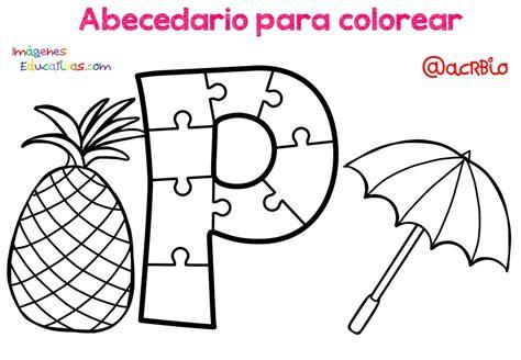 Abecedario para colorear (17) Imagenes Educativas