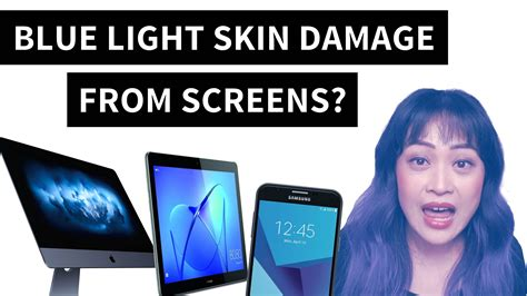 Light Skin With Blue by Will Blue Light From Computers And Phones Damage Your Skin