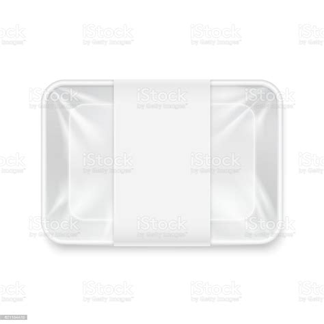 White empty plastic food tray container. White Transparent Empty Disposable Plastic Food Tray ...