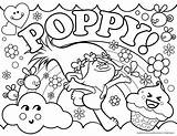 Trolls Coloring Poppy sketch template
