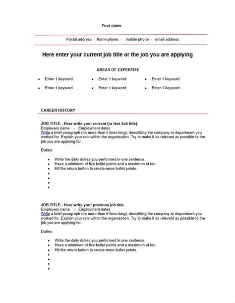 free blank resume 10 blank resume templates free word psd pdf sles