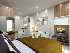 Ideas for decorating a modern small apartment bedroom for Design for small bedroom modern