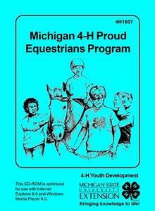Michigan 4-h Proud Equestrians Program Cd-rom  4h1607