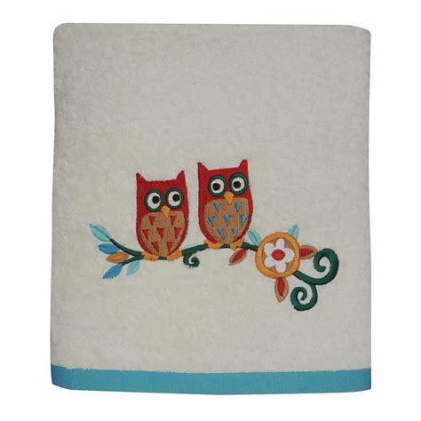owl bathroom set kmart colormate owl garden bath towel