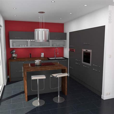 deco cuisine design cuisine grise porte effet touch ginko gris mat déco