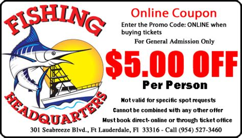 fishing charters coupons