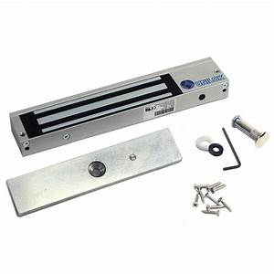 1 8 In  To 2 In  Thick Steel 600 Lb  Magnetic Security Door Reinforcer Lock With Led Indicator