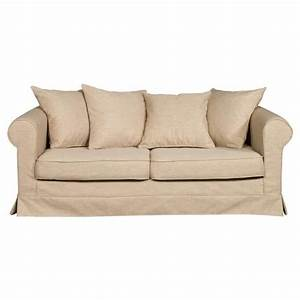 canape 3 places en tissu dehoussable aristide beige With canape 3 places dehoussable