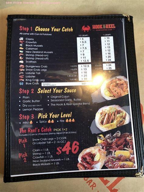menu  hook reel cajun seafood bar restaurant