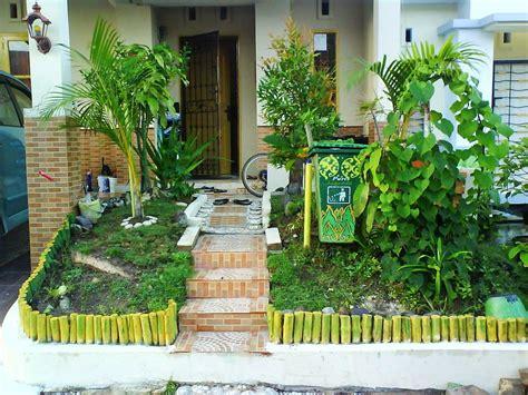 gambar taman sederhana halaman rumah terbaik