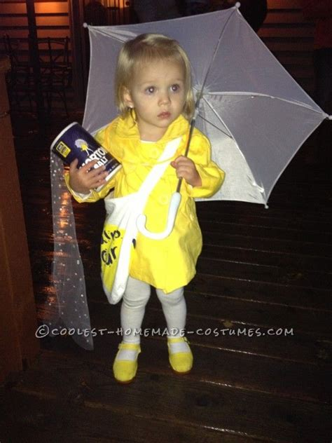 cutest  morton salt girl halloween toddler costume