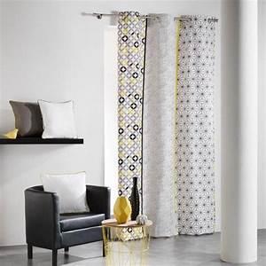 Rideau Forme Geometrique : rideau tamisant rideau et voilage eminza ~ Melissatoandfro.com Idées de Décoration