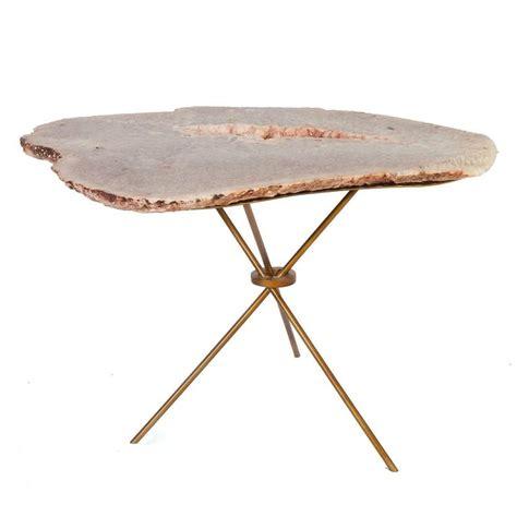 rose quartz table l rose quartz agate side table for sale at 1stdibs