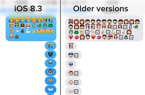 emoji update iphone apple s new emojis turn into aliens when sent to earlier