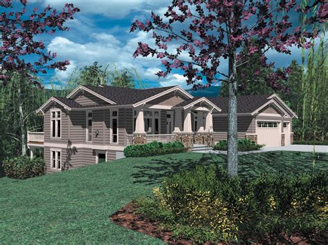 sloping lot craftsman classic  architectural
