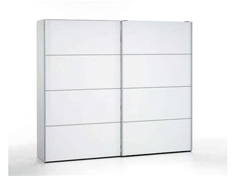 largeur porte chambre armoire 2 portes coulissantes 240 cm verona coloris blanc