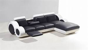 Canapé Avec Repose Pied : canap d 39 angle cuir 3 places 5 places canap d 39 angle cuir ~ Teatrodelosmanantiales.com Idées de Décoration