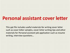 personal assistant cover letter With how to write a cover letter for personal assistant