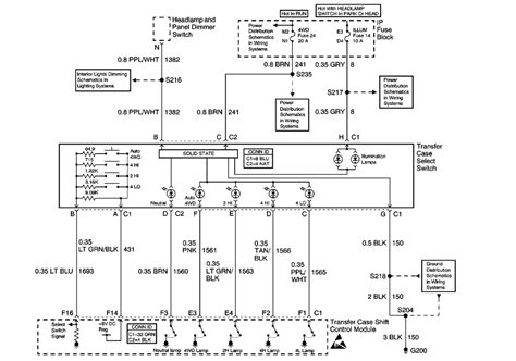 Chevy Suburban Transfer Case Wiring Diagram