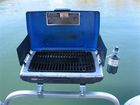 Boat Grill Used by Find Pontoon Boat Rail Mount Bracket Set For Your Bbq