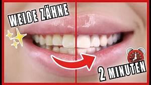Weiße Zähne Hausmittel : wei e z hne in 2 minuten z hne selber aufhellen mit hausmittel alegra lopez youtube ~ Frokenaadalensverden.com Haus und Dekorationen