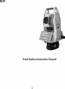 Stonex Srl R25 Total Station User Manual