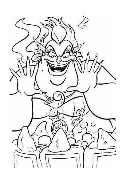 Coloring Pages Ursula Ariel Printable Mermaid Clipart