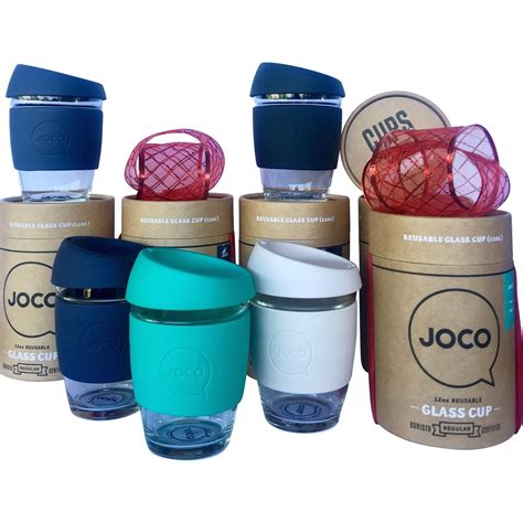 The 6oz reusable joco cup is thoughtfully designed from borosilicate glass and medical grade silicone. Joco Glass Reusable Coffee Cup 12 Oz - Black