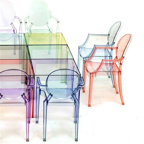 kartell chaises louis ghost chair with armrests by kartell arredaclick