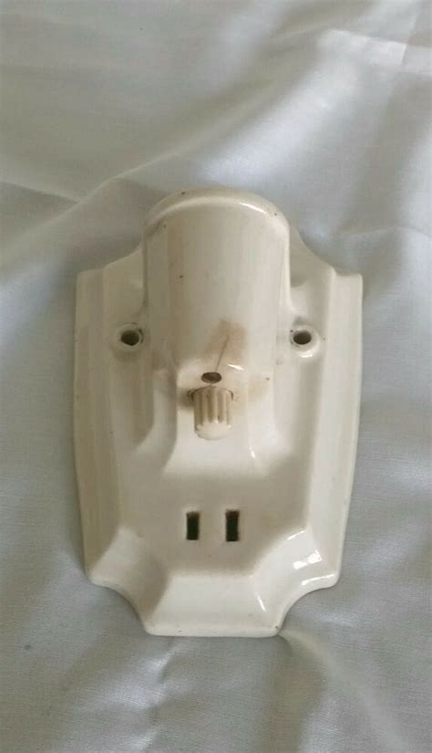 porcelain wall light socket ceramic white sconce w outlet paulding ebay