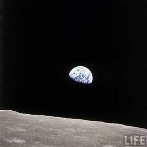Earth Seen From Moon - Pics about space